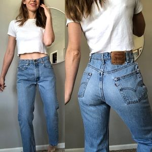 Vintage Levi's light wash 505 high waist jeans